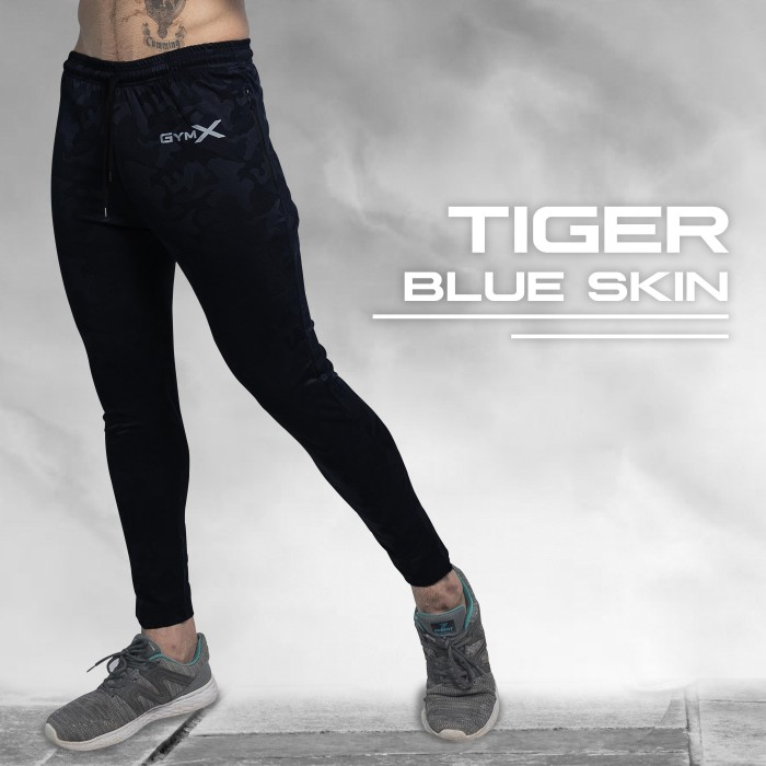 Tiger Blue Skin Bottoms (Zipper Pockets)