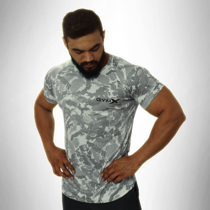 Gymx White Atlas Tee - Phoenix Series