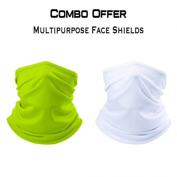 Multipurpose Combo Shields- Neon & White (Reusable)