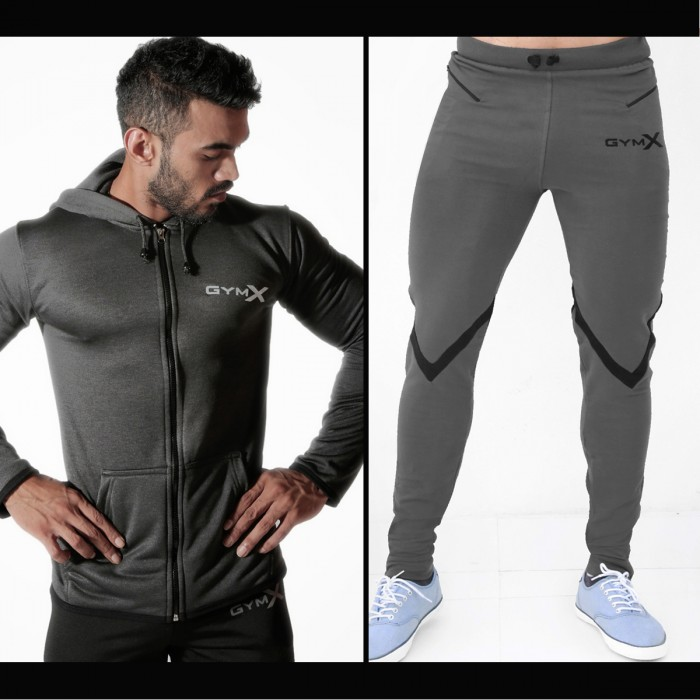 Valour Concrete Grey Sweatpant & Vortex Carbon Grey Combo Hoodie Offer