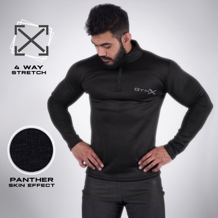 Black Panther 1/4th Zip Pullover- Panther Series