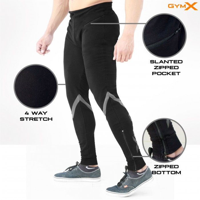 Valour Iconic Black Sweatpants (Flex Fit)