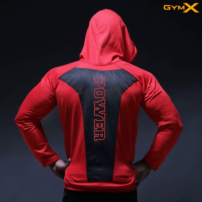 Power Emblem Hoodie- Prestige Red (Armour Edition)-sale