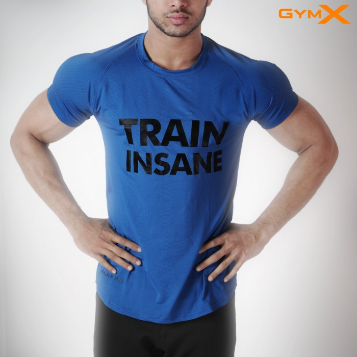 Train Insane Axiom Tee- Royal Blue